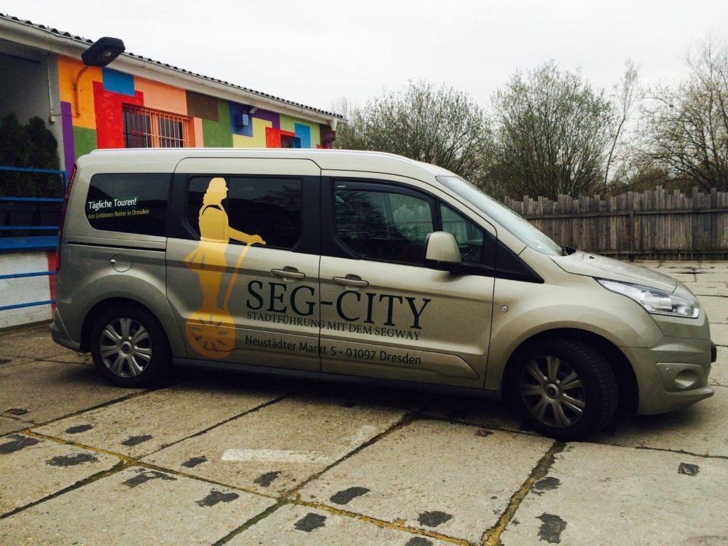 Gestaltung und Beschriftung Seg-City