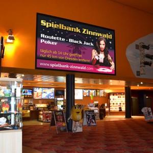 Leinwandpräsentation Spielbank Zinnwald
