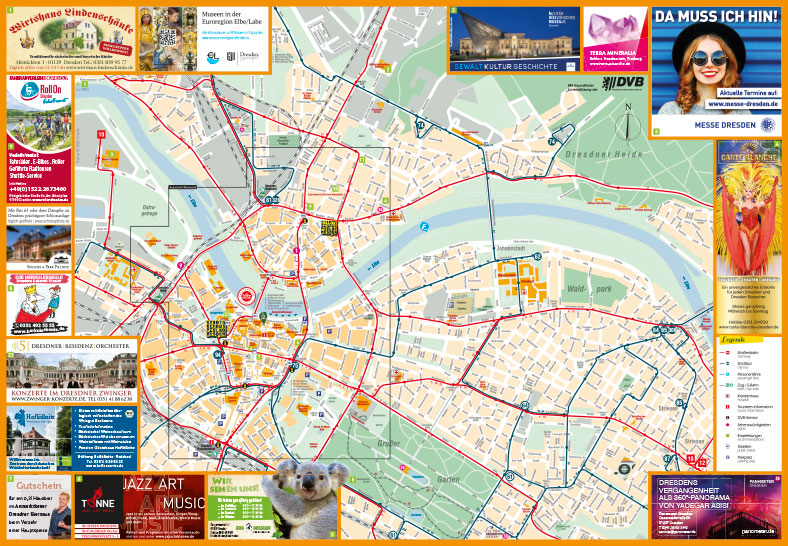 Stadtplan Vorderseite